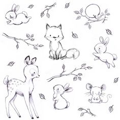"472 Likes, 14 Comments - Illustrator & muralist (@aidazamorailustracion) on Instagram: ""Buenas noches bellos y bellas! 😘 #childrensillustration #bunny #pattern #sketchoftheday…"""