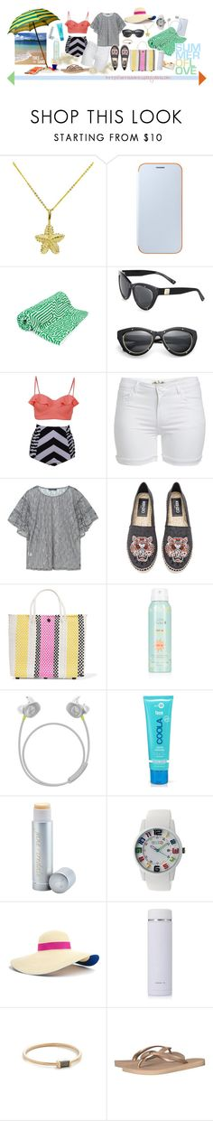 """Beach Baby"" by virtudiaries ❤ liked on Polyvore featuring Samsung, John Elliott, MCM, Violeta by Mango, Kenzo, TRUSS, Bose, COOLA Suncare, Jane Iredale and Crayo"