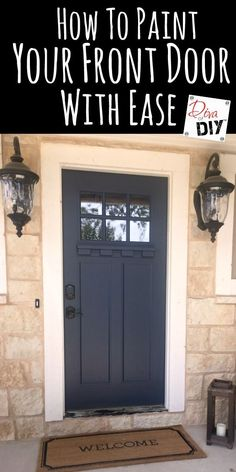 Outdoor Decorating : Painting your front door is one of the easiest ways to boost your curb appeal! Using the right products and picking the right door color is important! #ad -Read More –