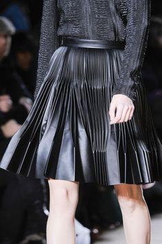 Marco de Vincenzo Fall 2013 RTW. Leather plissé skirt.
