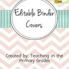 Free editable binder covers.  Use them as a cover of your sub binder, a lesson plan binder or any other binders in your classroom.   Graphics from:...