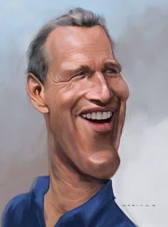 Paul Newman illustration via Andries Maritz Art Blob