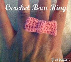 Tutus and Tea Parties: Free Crochet Pattern | Crochet Bow Ring