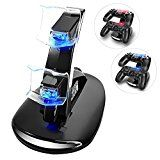 Review for YCCTEAM Dual USB Charging Charger Docking Station Stand for Playstation 4 PS4,PS... - tina Stun  - Blog Booster