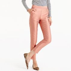 J.Crew+-+Collection+petite+cigarette+pant+in+heavy+shantung