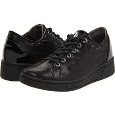 DKNY - Ivy Sneakers (Black Lizard Foil) - Footwear, $51.99