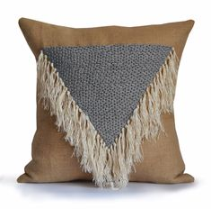 Shaggy Throw Pillow Cover Boho Pillow Geometric Decorative Pillow  Dorm Pillow