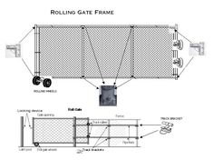 Rolling Gate, Roll Gate, Chain Link Fence Rolling Gate,Sale, Prices, Wholesale, Supply, Designs, Styles, Hardware, Supplies, Industrial, Residential, Commercial, Inustrial