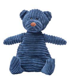 Loving this Blue Corduroy Warming Bear on #zulily! #zulilyfinds