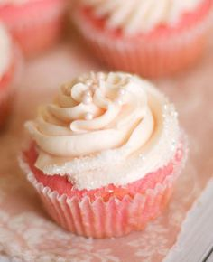 If you love red velvet cupcakes then you are going to fall head over heels for these super adorable, super moist Pink Velvet Cupcakes piped with swirls of Light Pink Buttercream Frosting and garnished with Mini White Sugar Pearl Sprinkles. So soft, so delicate, so perfect. Make them today at the-baker-chick.com More Cupcakes! Pink Lemonade…   [read more]