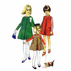 1960s Girls Dress or Jumper Simplicity 7279 Vintage Sewing Pattern