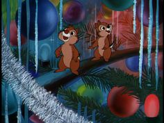 "Inside christmas tree in ""Pluto's Christmas tree"" (Disney, Chip and Dale Disney Merry Christmas, Christmas Cartoons, Noel Christmas, Christmas Movies, Christmas Classics, Xmas, Christmas Episodes, Disney Holidays, Christmas Vacation"