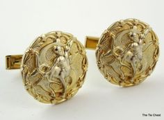 Great set of cufflinks with a Sagittarius pattern. Vintage Cufflinks with a Zodiac Sign. | The Tie Chest