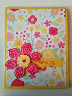 Stampin' in the Sun!: Quick and Easy Card for Stylin' Stampin' INKspiration