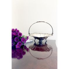 Pairpoint Silverplate Bride's Basket Vintage Wedding Decor Antique... ($31) ❤ liked on Polyvore featuring home, home decor, small item storage, fruit home decor, fruit signs, fruit flower basket, fruit basket and brides basket