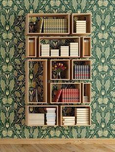 tecido para parede folhas e nichos