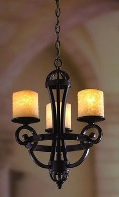 black iron candle chandelier lamp-in Candle Chandelier, Rustic Chandelier, Candle Sconces, Rustic Lamps, Small Lamp Shades, Rustic Lamp Shades, Spray Paint Lamps, Spray Painting, Night Table Lamps