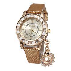 Fashion elegant diamond pendant watches female watch - gold: Amazon.ca: Watches