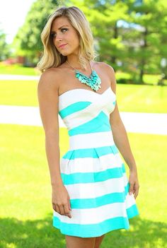 Mint green and white beautiful dress really cool and really really awesome :) everyone wants one of these