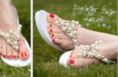 Recycled Craft Ideas – DIY Fashion Flip Flops | Fashion Beads and ...