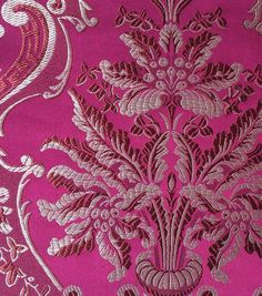 Brocade Fabric- Brocade Damask BerryBrocade Fabric- Brocade Damask Berry,