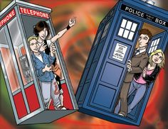 As a child, I once asked my mom why Bill and Ted traveled in a phone booth.  She explained that it was a Doctor Who reference, but that she knew nothing else about Doctor Who.  I credit this less-than-completely-answered question for my geekish following of the Eccleston/Tennant/Smith Dr. Who series.
