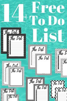 14 Free Blank Printable To Do Lists!!! Click to download your free 14 Blank To Do Lists to help you stay organized! | To Do List | Printable To Do List | Free Printable To Do List| Printables | Weekly To Do List | Daily To Do List | #freeprintable #printable #backtoschool #freeprintables #todolistprintable #organizationideas