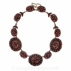 Mid-Century Garnet Necklace