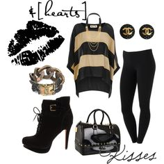 Black & Gold, created by ashypoo16 on Polyvore