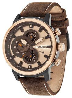 Police Uhr Herren Armbanduhr PL15037JSBR.04 braun