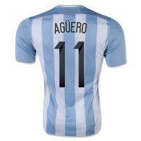 Argentina National Team 2015 AGUERO #11 Home Soccer Jersey [C253]
