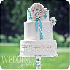 Toni Sweets designed this precious wedding cake