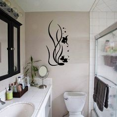 Fox Hill Trading Underwater Life Vinyl Wall Decal Color: White, Size: H x W