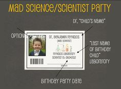 Mad Science Name Badges Birthday Party DIY Printable And - Mad scientist name tag template