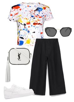Bez tytułu #28 by ania-idziak on Polyvore featuring moda, Alice + Olivia, Margaret Howell, NIKE, Yves Saint Laurent and Prada
