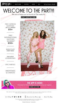 Nasty Gal welcome email series Dec. 2013 email #1 in the series