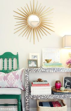 Little Green Notebook: Reader DIY: Faux Snakeskin Console Table