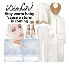 """""""What to wear - Winter White"""" by obsessedaboutstyle on Polyvore featuring Nina Ricci, URBAN ZEN, Gianvito Rossi, STELLA McCARTNEY and J.Crew"""