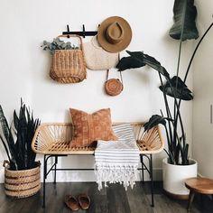 simple entry way decor. #plants #entrywaydecorideas  #basket  #houseinterior #houseinteriordesign #houseinspiration #home #house #modern #moderndesign #moderninteriordesign #modernhome #modernlivingroom #bedroom #bedroomdesign #bedroomdecorideas #plants #plantlady #bohostyle #entryway #entry #entrywaydecor Room Ideas Bedroom, Bedroom Decor, Entryway Decor, Aesthetic Room Decor, Home And Deco, House Rooms, New Room, Home Decor Inspiration, Home And Living