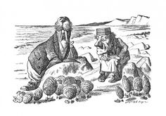 The Walrus And The Carpenter Illustration By Sir John Tenniel From The Book Through The Looking-Glass And What Alice Found There By Lewis Carroll Published London 1912 Canvas Art - Ken Welsh John Tenniel, Fine Art Prints, Framed Prints, Canvas Prints, Canvas Art, Oyster Image, Through The Looking Glass, Wood Engraving, Alice In Wonderland