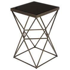 Inspired by an origami, the intricate geometric base structure and sleek, square top, make up this Osane Accent table. It's small enough to tuck away on the side of a chair and the perfect place to set your drink.