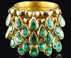 https://flic.kr/p/sZnD53 | Retro Gold & Emerald Teardrop Ring,1950's!
