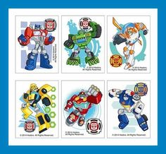 12 Transformers Rescue Bots Temporary Tattoos Party Favors #BirthdayChild $3 ebay