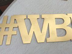 Laser Cut WORD custom signs wedding photo booth props