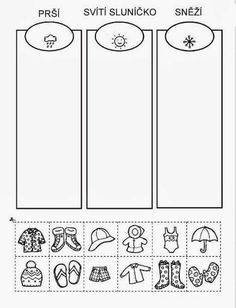 Z internetu – Sisa Stipa – Webová alba Picasa Preschool Worksheets, Preschool Activities, Weather For Kids, Cut And Paste, Teaching Kindergarten, School Humor, Pre School, Kids Learning, Classroom