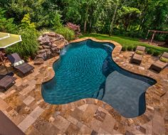 Backyard Pool Landscaping, Backyard Pool Designs, Small Backyard Pools, Small Pools, Swimming Pools Backyard, Pool Spa, Swimming Pool Designs, Outdoor Pool, Lap Pools