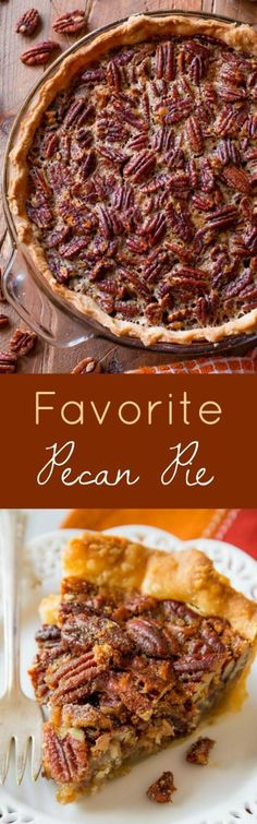 My favorite pecan pie! This classic recipe is inspired by my grandmother. Click through for the recipe!