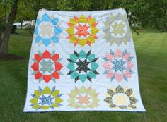 The Swoon hand quilted modern warm full/ queen by sotakhandmade, $300.00