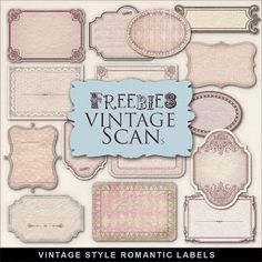 Freebies Kit of Romantic Vintage Style Labels