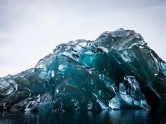 Spectacular view of the underside of iceberg - GrindTV.com